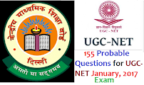 155 Probable Question & Answer for UGC-NET January-2017 Exam