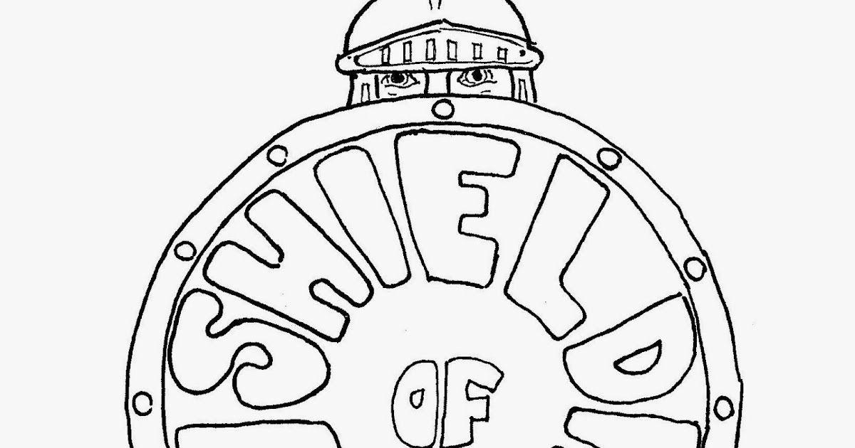 Coloring Pages for Kids by Mr. Adron: The Shield of Faith