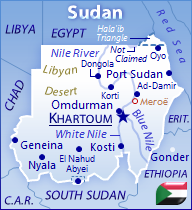 GeoFact of the Day Blog map of Sudan