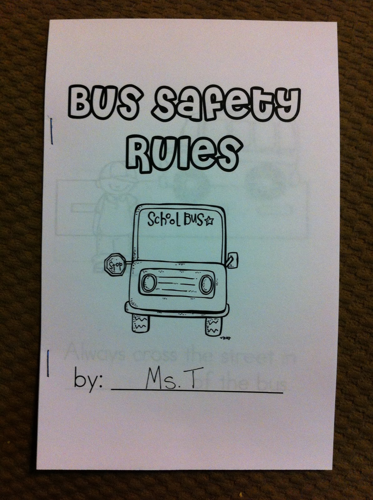 First Grade Garden Bus Safety Week