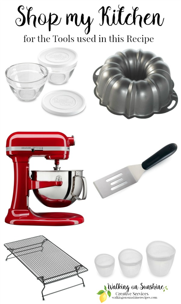 Here are the kitchen tools I used in the recipe for Easy German Chocolate Cake from a Cake Mix from Walking on Sunshine