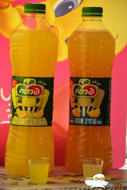 קרטיב לימון וקרטיב אננס popsicle drink