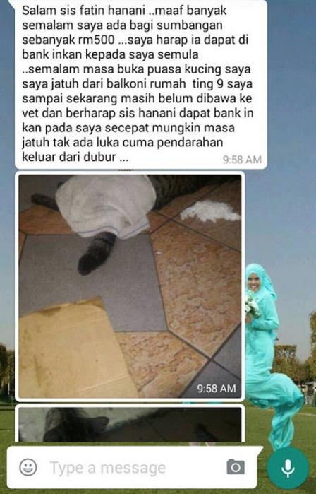 Penipu Kantoi Nak 'Songlap' Duit Derma Kucing