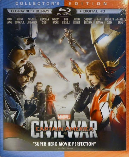 Carátula del Blu-ray de Captain America: Civil War