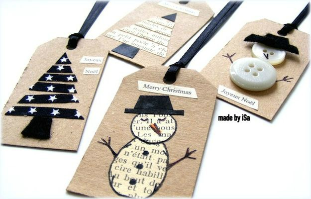Mini Paper Strips And Paper Discs Gift Tags