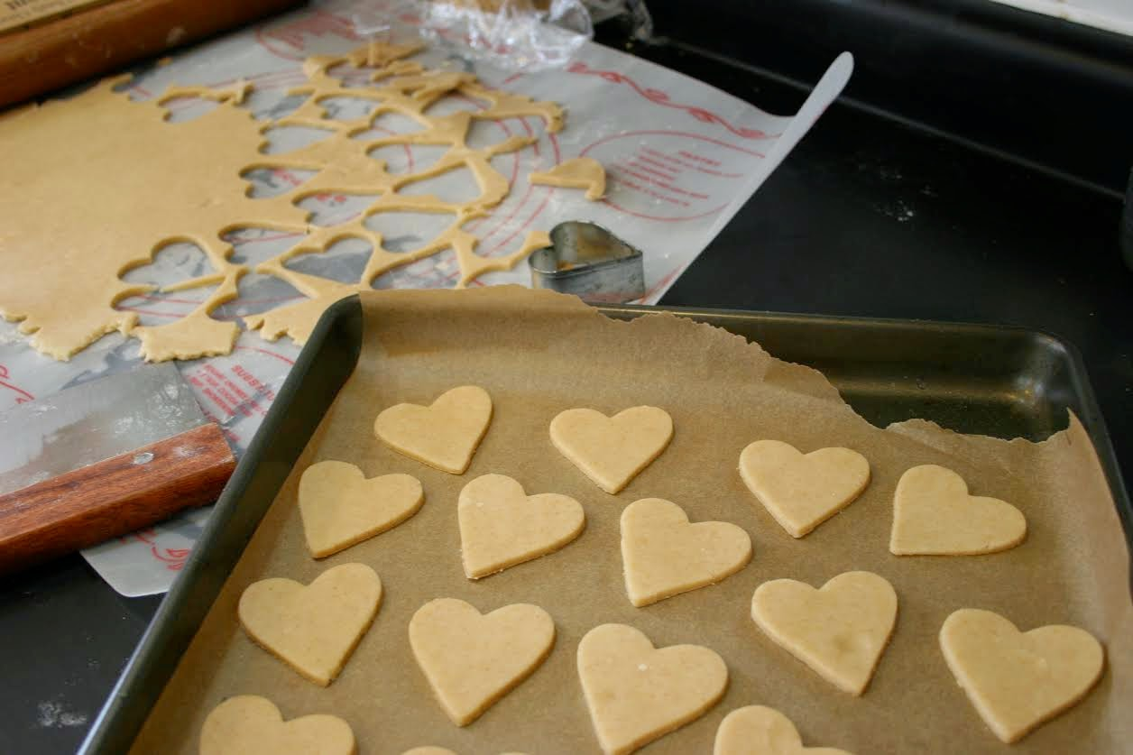 Homemade Heart-Shaped Sugar Cookies for Valentine's Day
