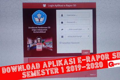 Download Erapor SD 2019-2020 Terintegrasi Dapodik