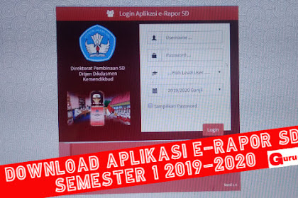 Aplikasi erapor sd Semester genap 2021