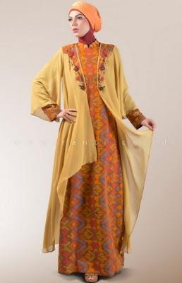 Gamis batik modern casual untuk wanita muda