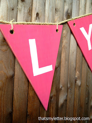 scrap wood made into bunting