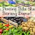 Ingat 5 benda penting bila shopping barang dapur!