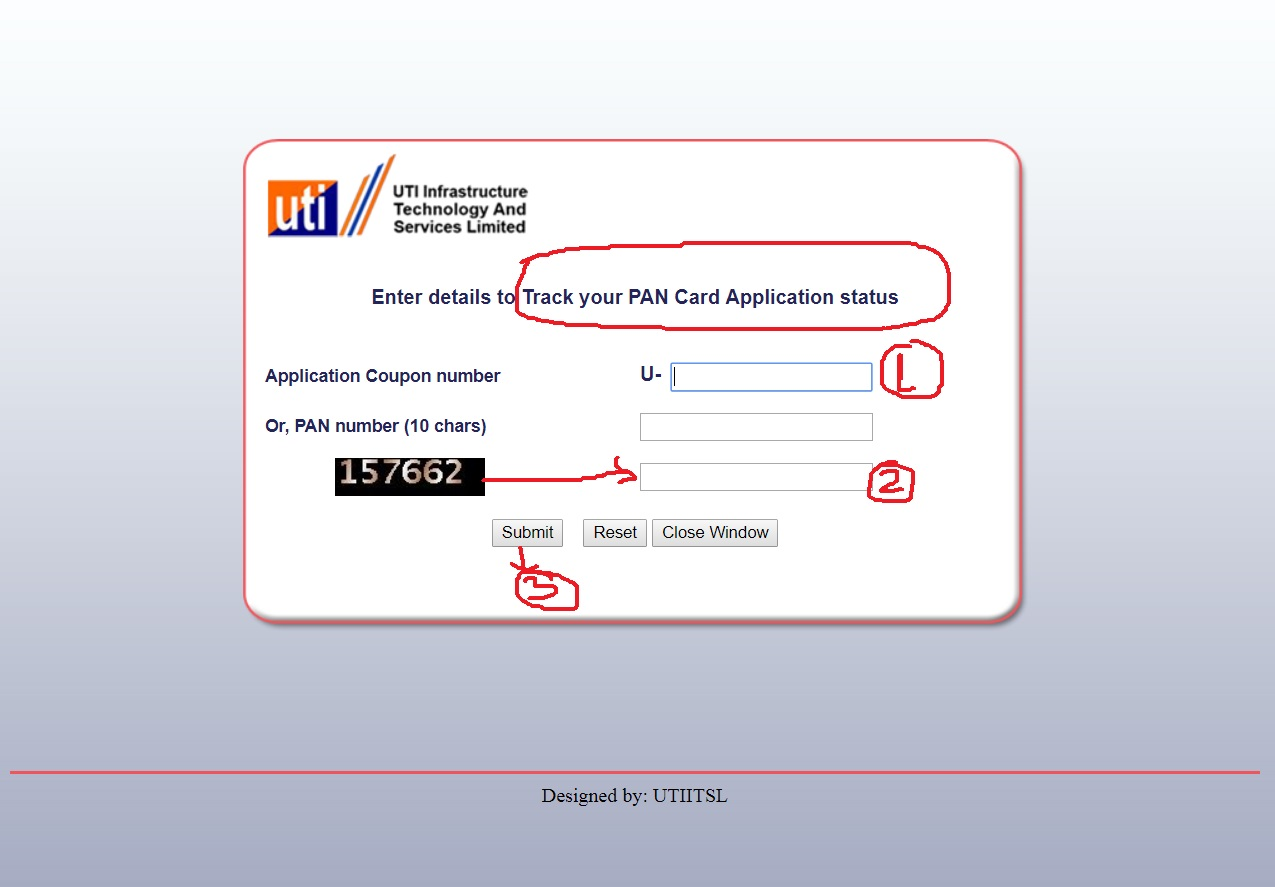 Ways to check the status of PAN application