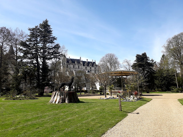spring  in public garden in Loches