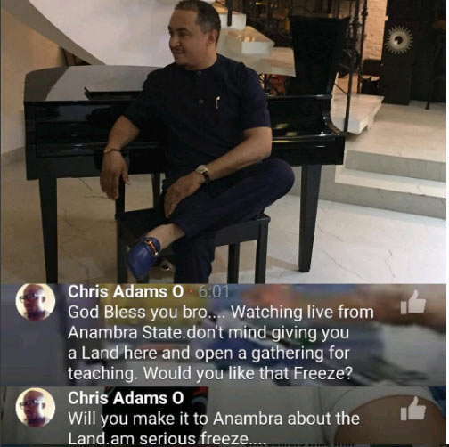 Man offers OAP Freeze plot of land to start a church in Anambra