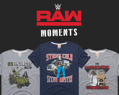 WWE RAW Moments T-Shirt Collection by HOMAGE