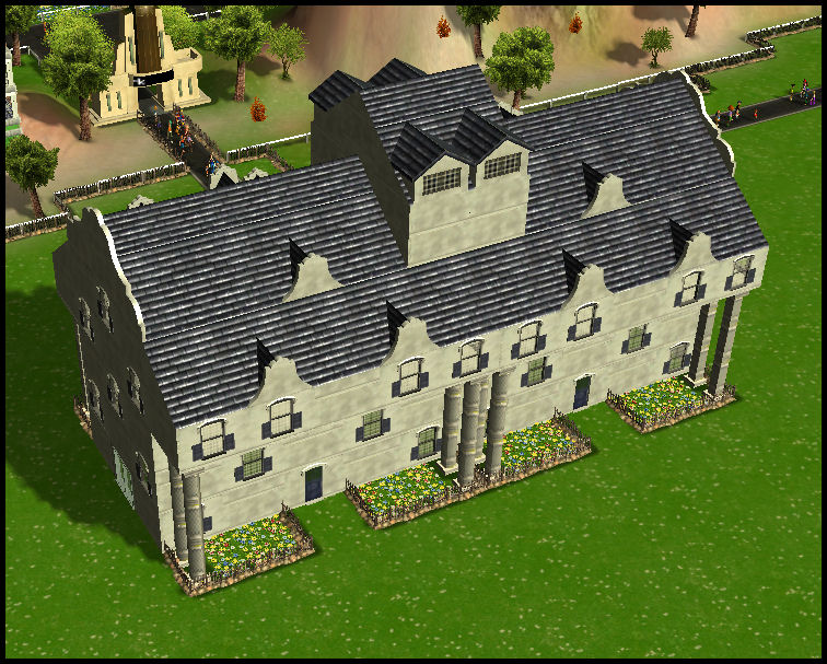 Roller Coaster Tycoon 3 Downloads: RCT3 Colonial Estates Structure