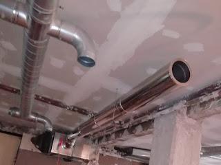 fotos tubos horizontales EI30 para horno de pizzeria