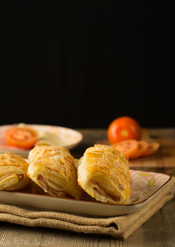 Napolitanas fáciles de jamón y queso sin lactosa I La Rosa Dulce