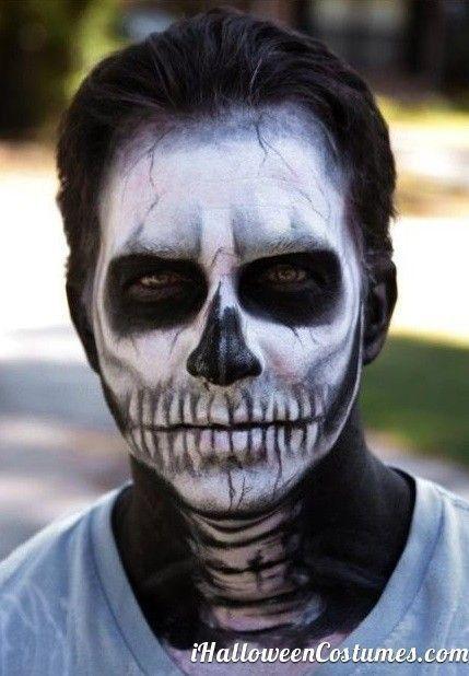 maquiagem masculina caveira halloween 2017