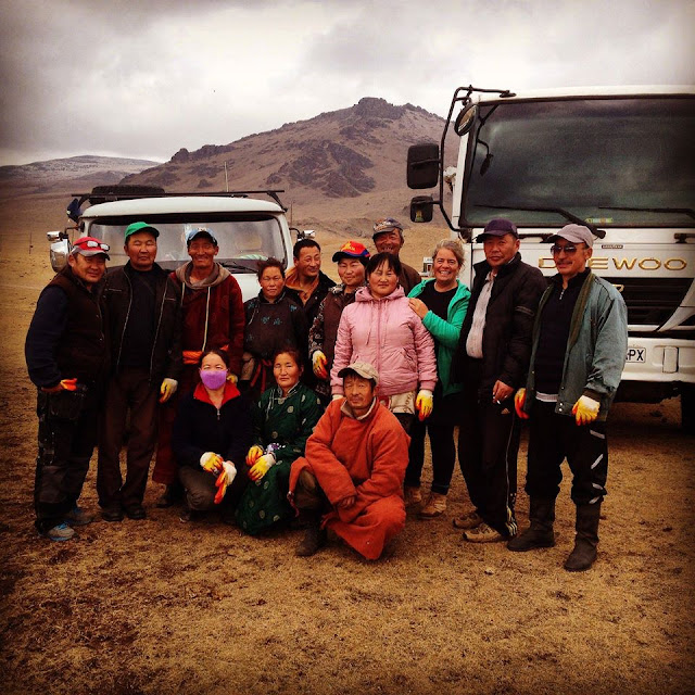 Our 2015 Terkhiin Tsagaan Nuur clean-up team