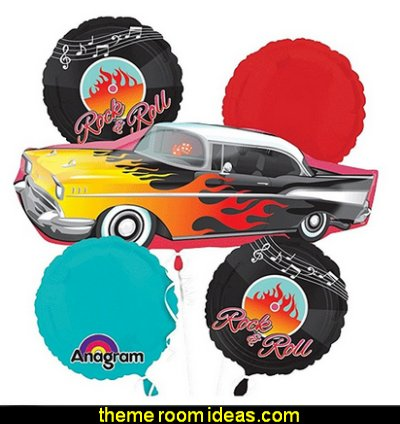 50's Rock n Roll JukeBox Balloon Bouquet  50s party ideas - 50s party decorations - 1950s Theme Party - 1950's Rock and  Roll Themed Party Supplies - 50s Rock and Roll Theme Party - 50s party decorations - 50s party props - 50s diner party  - 50s Costume