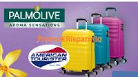 Logo Con Sanex e Palmolive vinci 106 Trolley American Tourister
