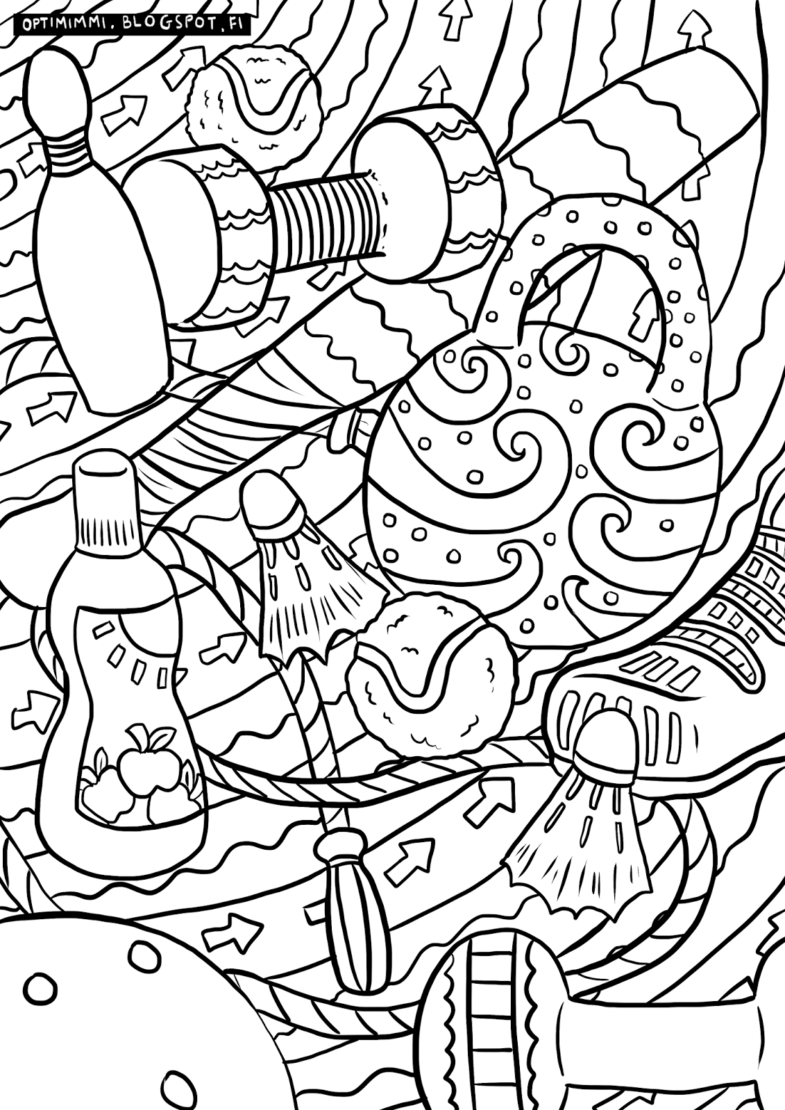 optimimmi energetic sports a coloring page energinen urheilu