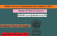 Public Service Commission Recruitment 2017– Lecturers