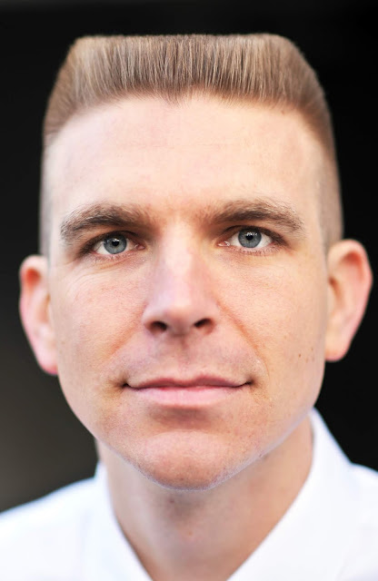 Timothy McGaffin II - Flat Top haircut, headhshot, close up,