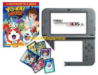 Logo Con Panini vinci 10 console Nintendo e 90 Videogame Yo-Kai Watch