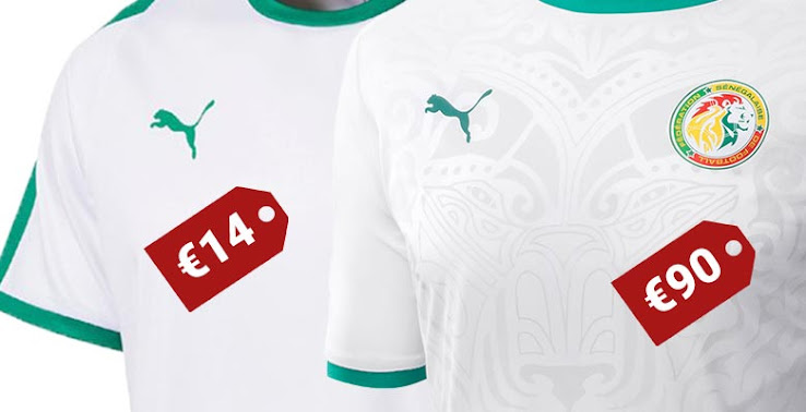 e4a8bba0a5d Puma Serbia and Senegal 2018 World Cup Jerseys are Basic Teamwear with  Added Graphic
