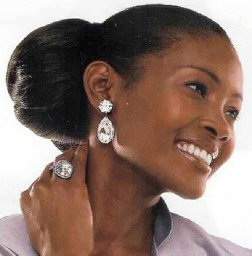 Wedding Hairstyles For Black Women African American: Side Bun Hairstyles For African American Women