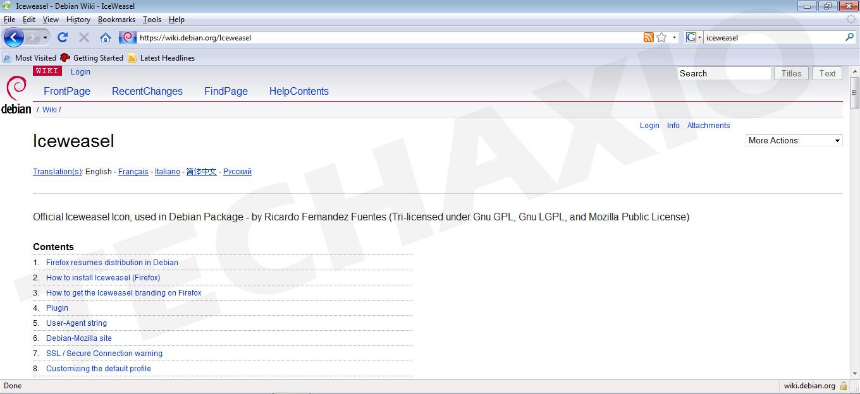 Iceweasel Browser Screenshot