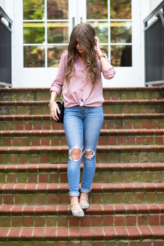 Pink Button Down Shirt Under $60