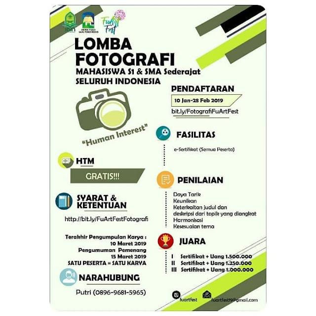 Lomba Fotografi Nasional FuArt Fest 2019 Mahasiswa