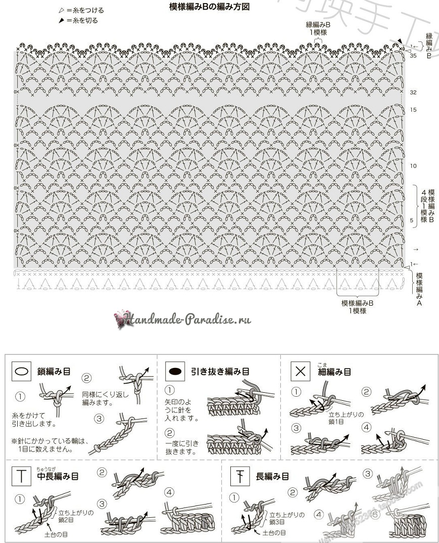 Схемы вязания крючком сарафана для девочки (4)