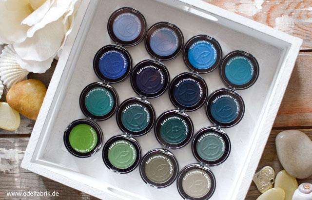 Yves Rocher neue Lidschatten, Blau und Grün