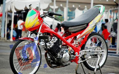 Modif Satria FU Air Brush