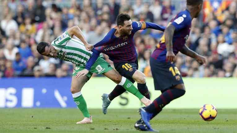 Bermain di Camp Nou, Barcelona Tumbang dari Real Betis