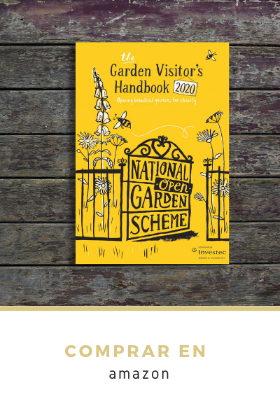 Libro amarillo de jardines de Inglaterra NGS National Garden Scheme