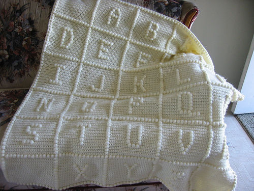 Free Knitting Pattern For Alphabet Blanket : Free crochet Afghan Pattern-ABC - CK Crafts