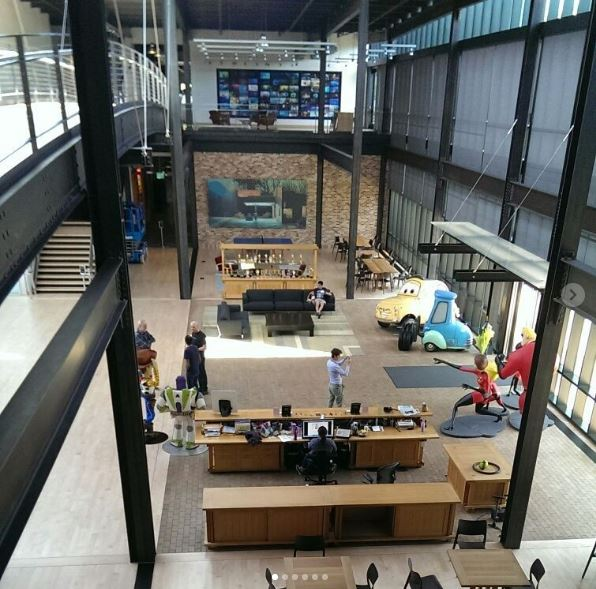 pixar office. but trust me when i say a magical world of imagination exists pixar office