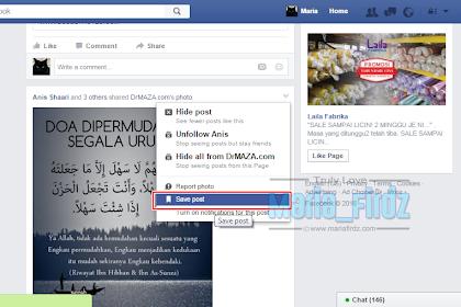Cara Simpan Post di Facebook!