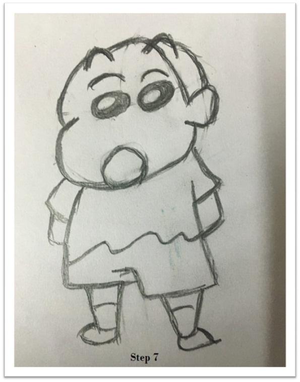 draw shin chan drawing