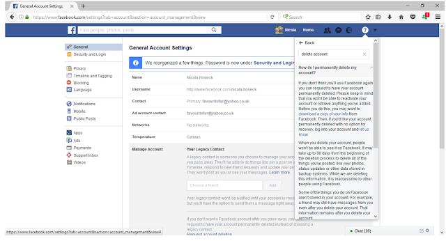 كيفية حذف حساب فيسبوك نهائيا دون الانتظار 14 يوم 2021