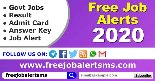 Free Job Alert 2020