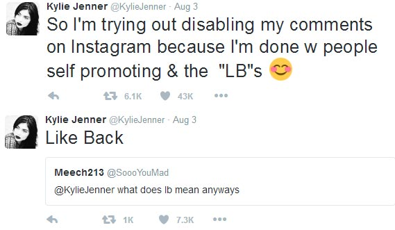 Kylie Jenner confirms disabling her IG comments due to LB spam