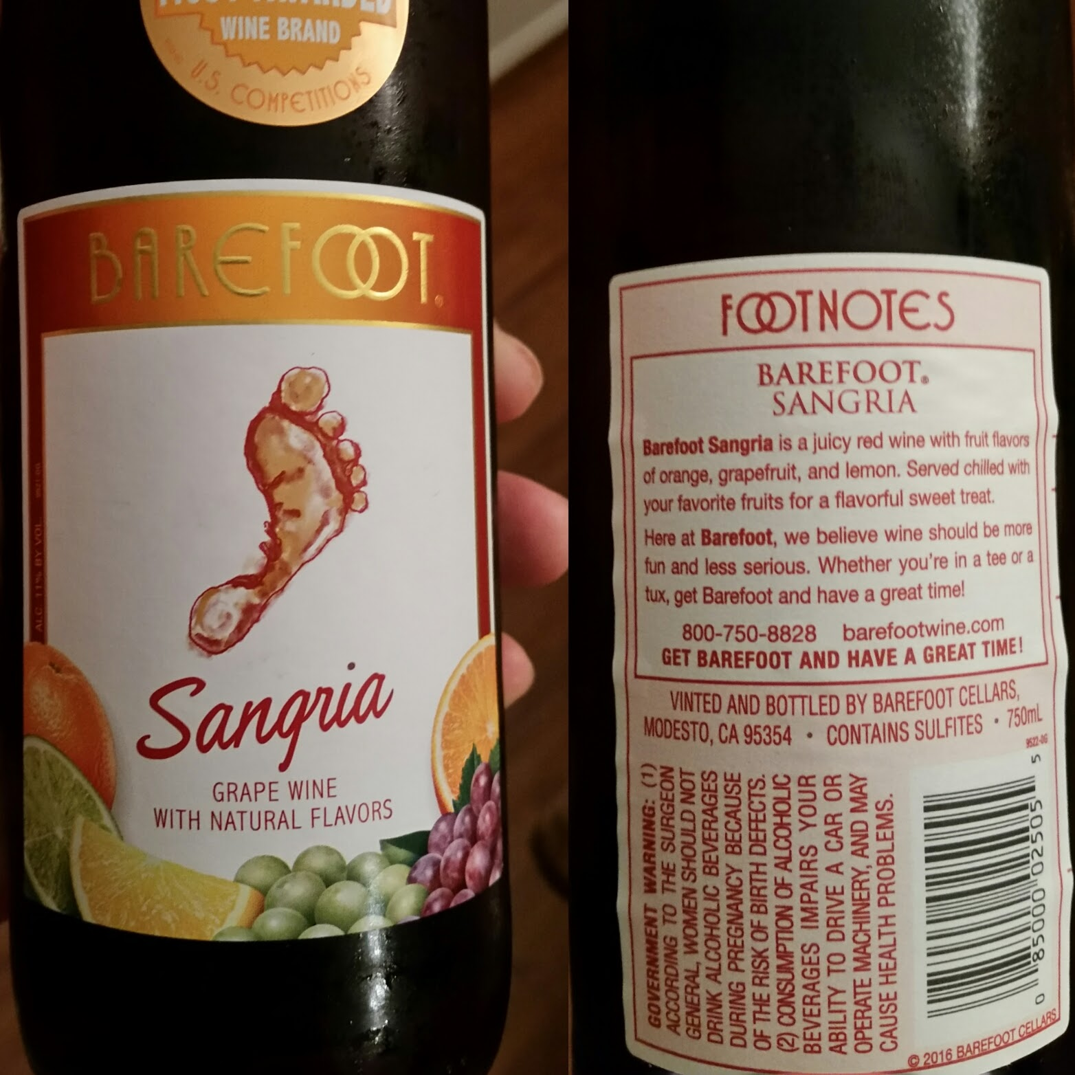 The Winos' Wine Guide: Barefoot Sangria
