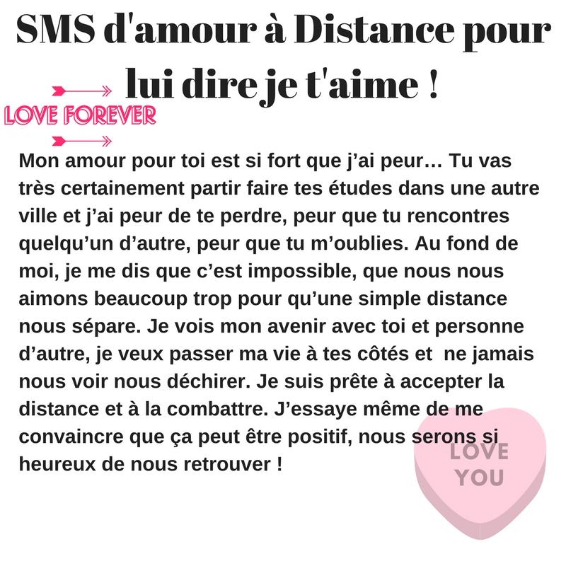 Messagetexte Pour Dire Je Taime à Distance 2019 Sms D