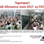 Chalk allowance is now P2,500